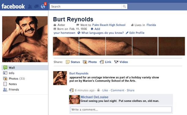 Art – Burt Reynolds Birthday Card