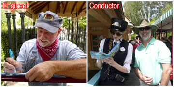 Disney Engineer and Conductor autographs