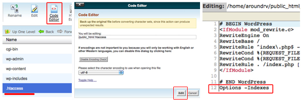 Edit your htaccess file in cpanel